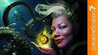 Ursula / Queen Latifah  - Speed art (#Photoshop) | CreativeStation
