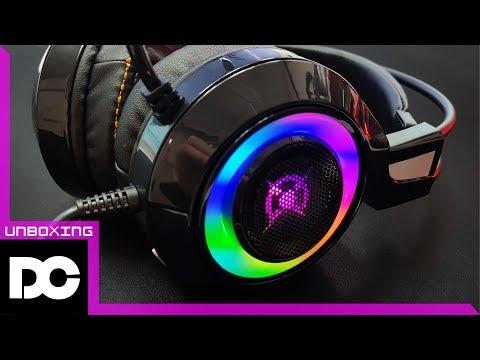 [DC튜브] COX CH50 배틀그라운드 7.1채널 진동 게이밍 헤드셋 LED효과 실화야? (언박싱&리뷰)