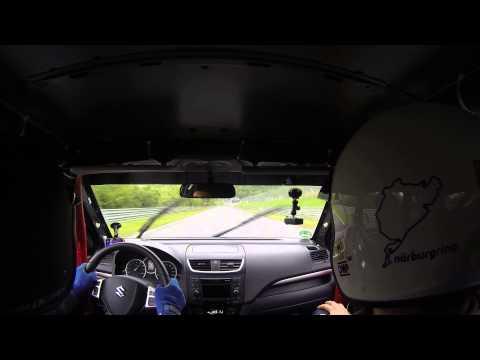 Nurburgring : Suzuki Swift Stage2 Rent4Ring WetLap with Ring Travel