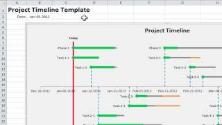 Excel Project Timeline - 10 simple steps to make your own Project Timeline in Excel 2010