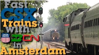 Fast CSX Trains and Foreign Power in Amsterdam, NY