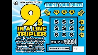 $1 - 9's TRIPLER - WIN! Lottery Bengal Scratch Off instant tickets   NEW TICKET TUESDAY WIN!!