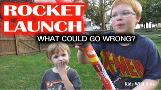 Sky Rocket In Flight:  Kids Launch Hand - Air Powered Ship - What Could Go Wrong?