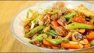 【火哥的菜】川味年糕炒鸡胗,软脆皆有麻辣鲜香,一份就搞定