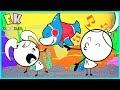 BABY SHARK SING ALONG - EK Doodles Kate Teaches Emma Baby Shark Dance Moves