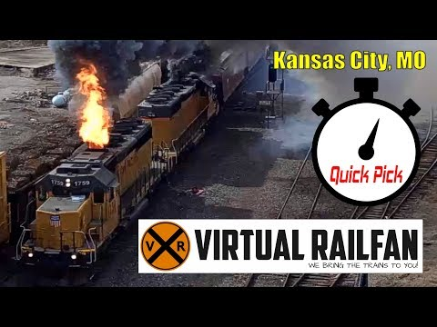 With The Heart Of A Steam Engine! Kansas City, MO Virtual Railfan