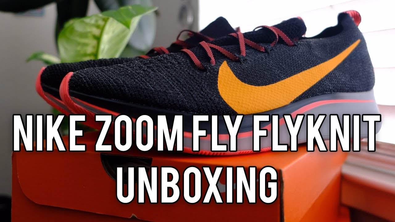 bff8ac480269 Nike Zoom Fly Flyknit Unboxing Thoughts - YouTube