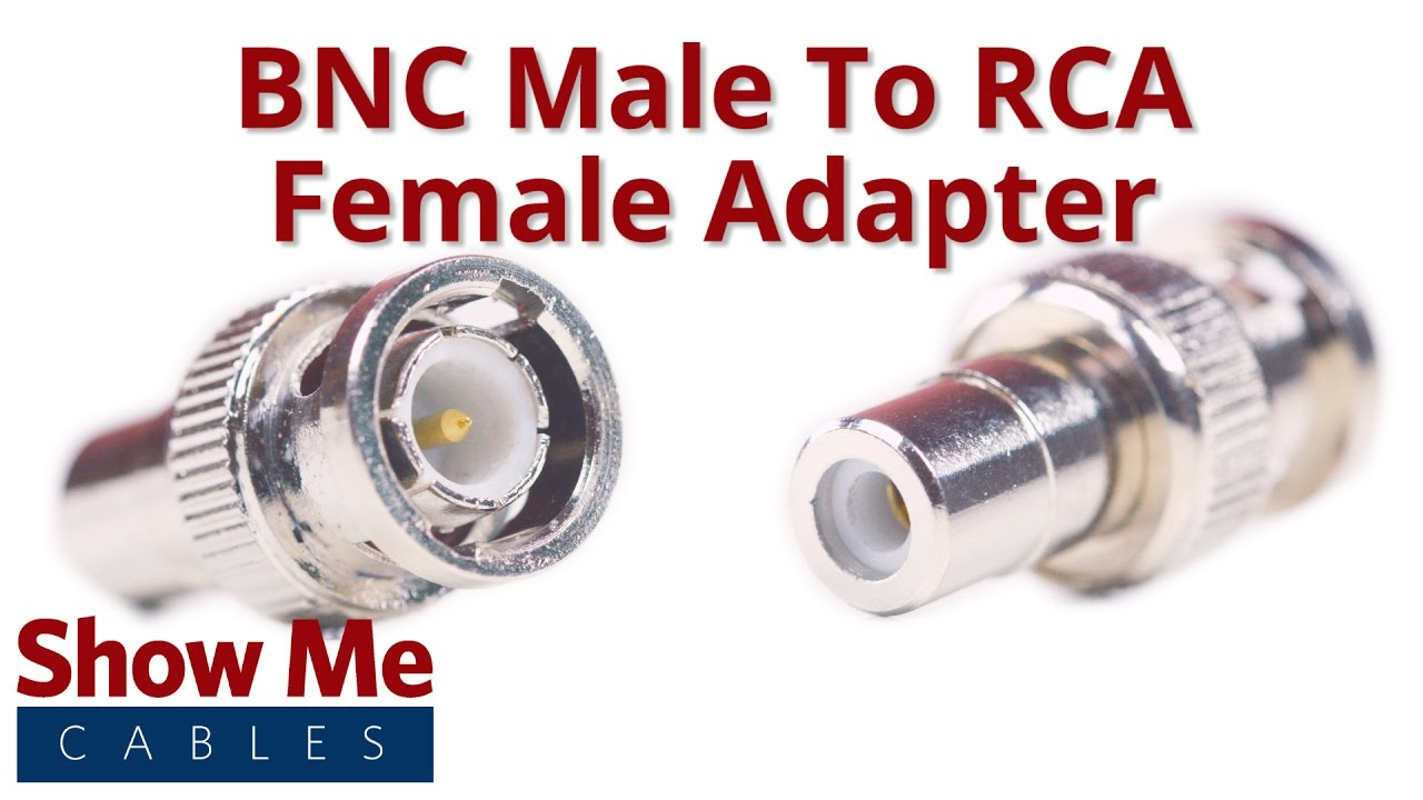 BNC Male to RCA Female Adapter #3018  YouTube