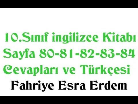 10.Sınıf İngilizce Kitabı Sayfa 80-81-82-83-84 Cevapları ve Türkçesi MEB 2019