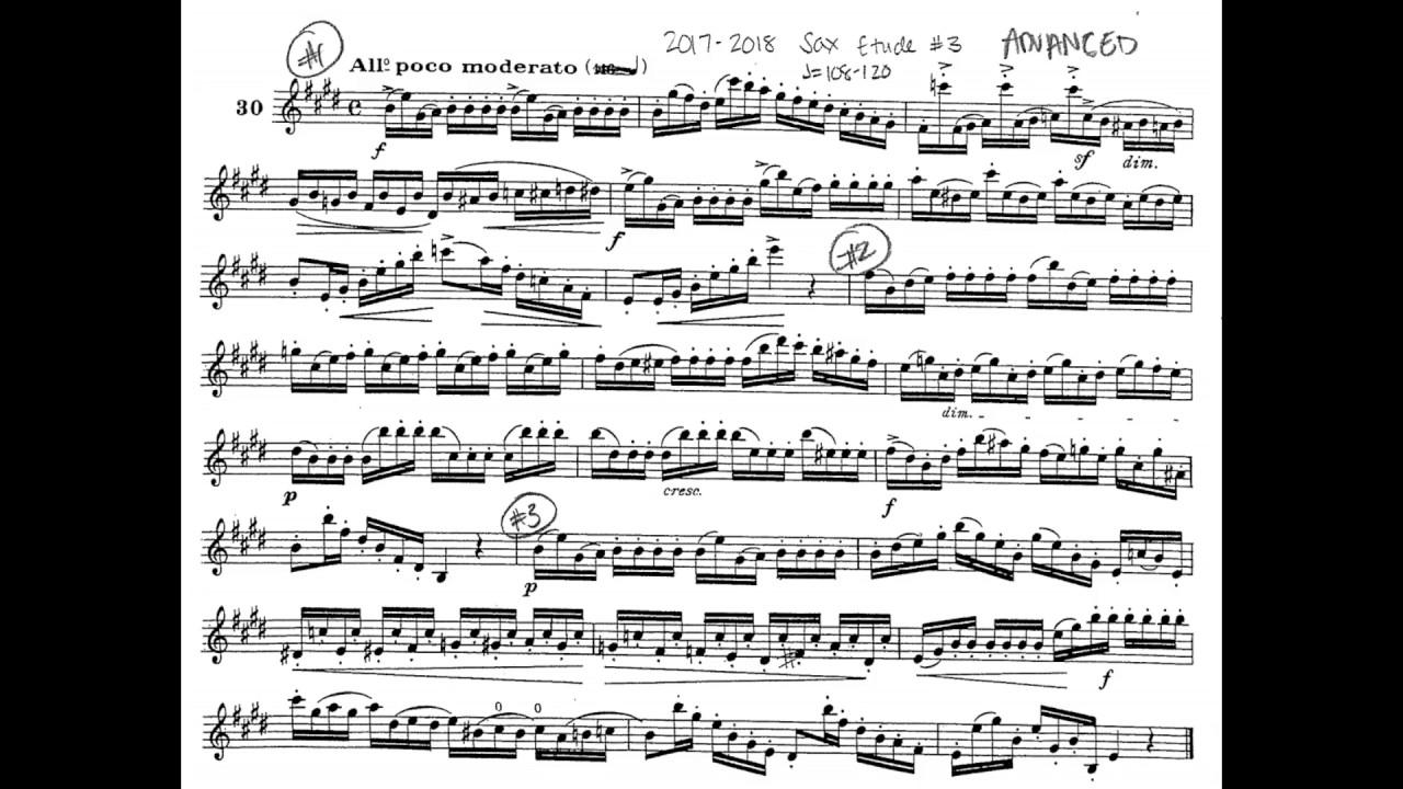 2017-2018 TMEA All-State Saxophone Etude #3 (Ferling #30)