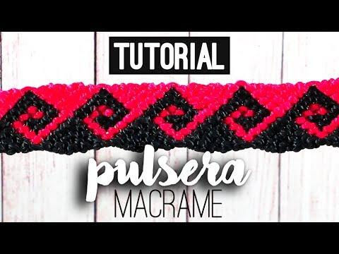 Ola griega / Pulseras de macramé ♥ - YouTube