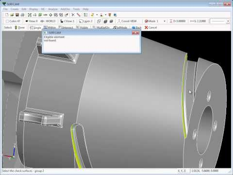SURFCAM Tutorial - 4-Axis: Simultaneous Milling