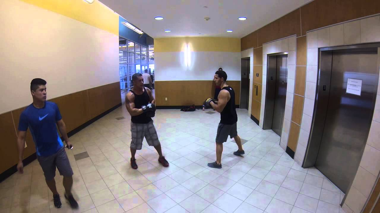 BOXING AT LA FITNESS - YouTube