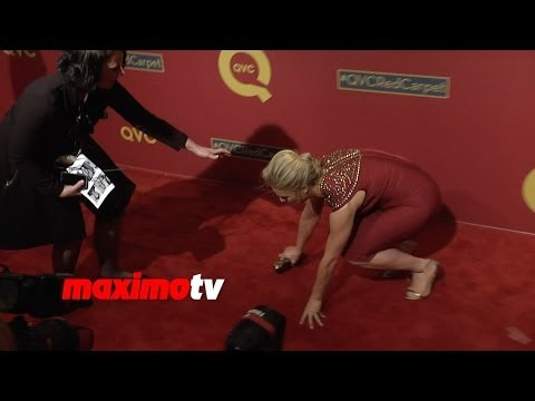 Celebrity OOPS! Elisabeth Rohm Trips and Falls Down on Red Carpet