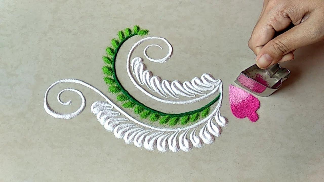 Image result for Quick freehand rangoli design for rakshabandhan festival DipaS Art