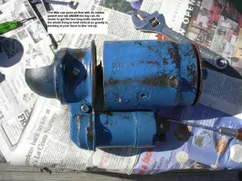 Atomic 4 Starter rebuild and 25XPB Diesel replacement