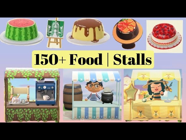 150 Latest Food Stalls Food Hats Design Codes For Animal Crossing New Horizons Acnh Patterns Youtube