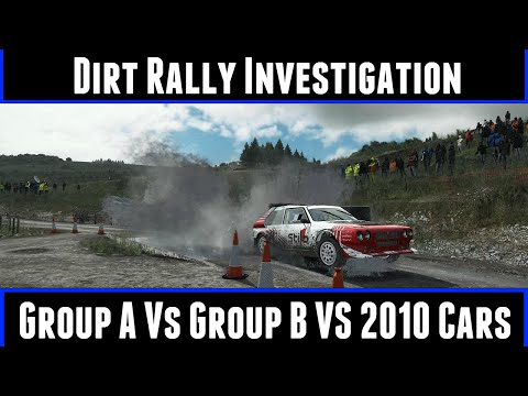 Dirt Rally Investigation Group A Vs Group B Vs 2010 Cars (60FPS)