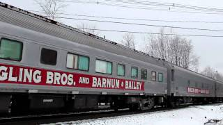 Ringling Brothers Barnum & Bailey Circus Train passing Inman Crossing