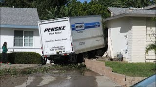Rental Truck Plows Into House In Chula Vista 12/9/2017