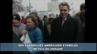 Des Sandwiches Américains Symboles De Paix En Ukraine