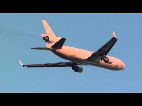 Global Africa Cargo Mcdonell Douglas MD-11F Z-GAC Take Off Malaga LEMG