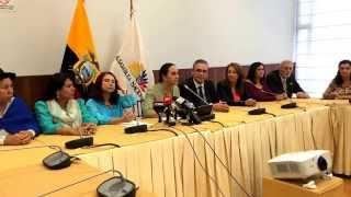 Presidenta Gabriela Rivadeneira entrega resolución apoyo a Argentina