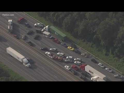 Drivers stuck in traffic on I-20 due to crash