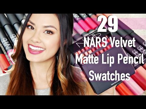 Swatching 29 NARS Velvet Matte Lip Pencil On My Lips! Demo & Review | The Beauty Breakdown
