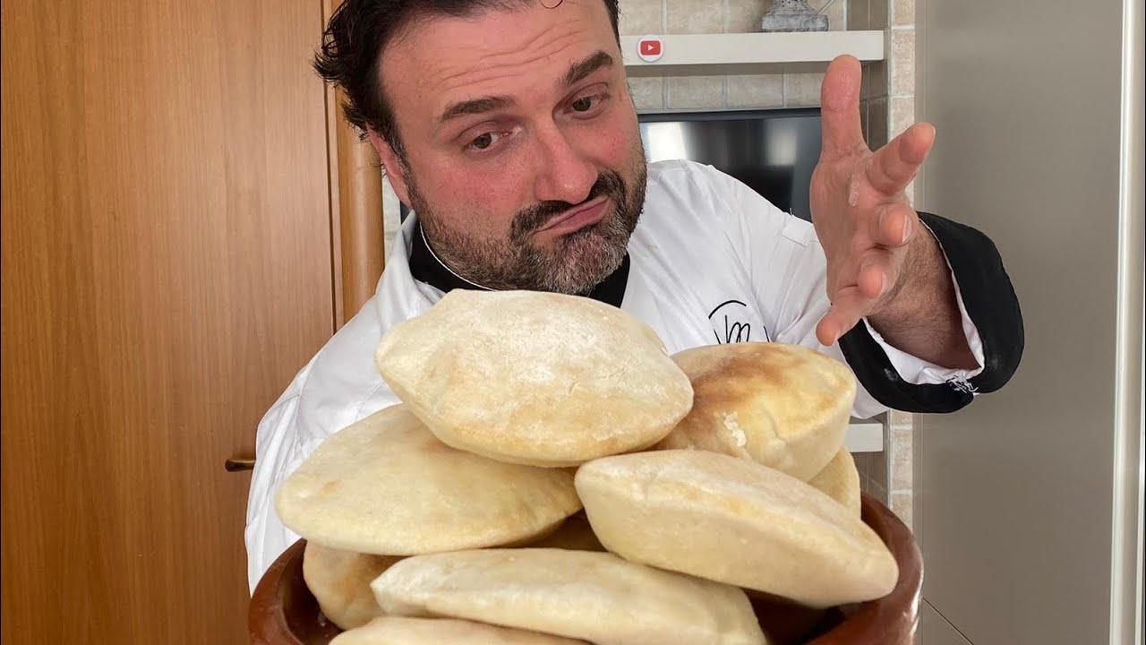 Ricette Pasta Madre Rinfrescata.Pane Arabo Fatto In Casa Con Lievito Di Birra O Lievito Madre Youtube