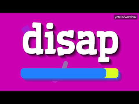 DISAP - HOW TO PRONOUNCE IT!?