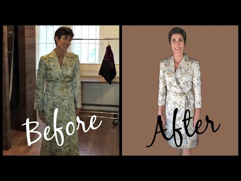 How Transform a Vintage Coat ~ The Dress Up Mom Visits Donna's Tailor Shop