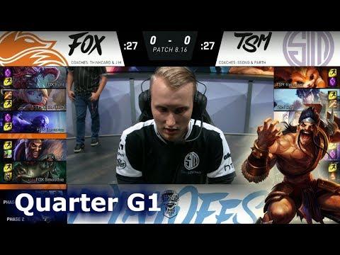 Echo Fox vs TSM | Game 1 Quarter Finals S8 NA LCS Summer 2018 | FOX vs TSM G1