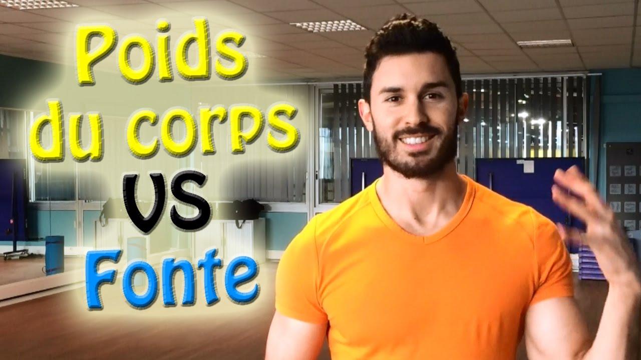 poids des muscles dans le corps