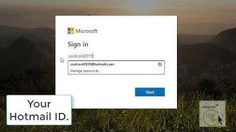 Hotmail Login 2019 || Hotmail.com Sign In || Hotmail Email Login