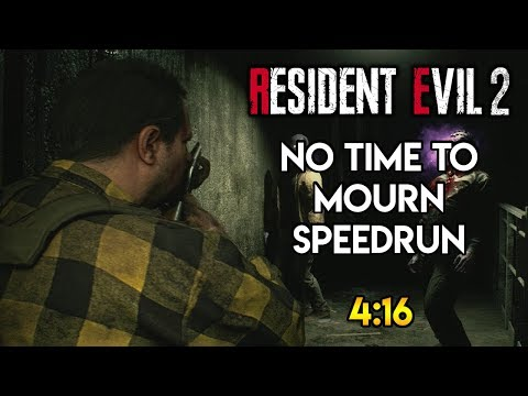 Resident Evil 2 Remale - No Time To Mourn DLC Speedrun - 4:16