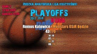 Baixar Romus Katowice - Monstars OSiR Będzin 43:70  (RALK Playoffs 2018)