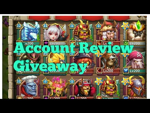 Account Review.... With Giveaway Details | Castle Clash | AKclasher