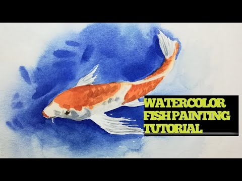 #artstudio2 #watercolour #art Watercolor fish painting tutorial