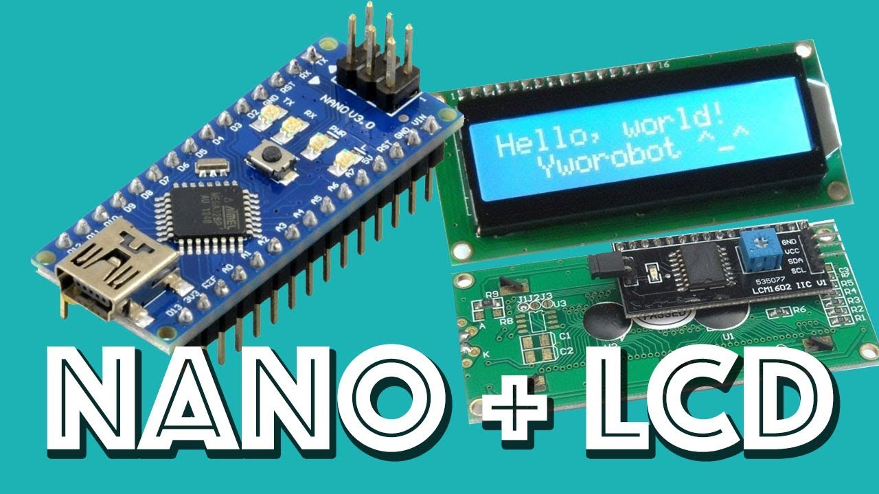 How to connect an I2C LCD Display to an Arduino NANO  YouTube