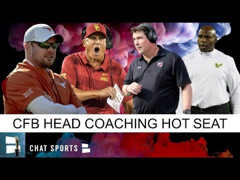 Top 7 College Football Head Coaches On The Hot Seat Feat. Tom Herman, Clay Helton & Will Muschamp