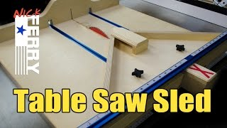 Ⓕ Make A Table Saw Cross Cut / Miter Sled Combo (ep58)