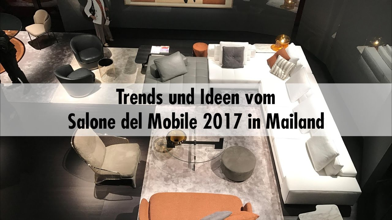 einrichten schweigert trends und ideen vom salone del mobile in mailand 2017 youtube. Black Bedroom Furniture Sets. Home Design Ideas