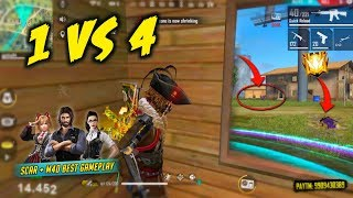 Solo vs Squad Never Give Up Best Pro Gameplay - Garena Free Fire