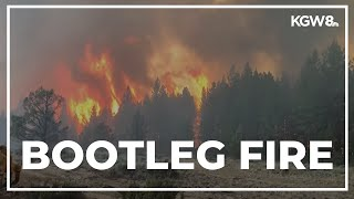 Firefighters trying to stay ahead of Southern Oregon's massive Bootleg Fire