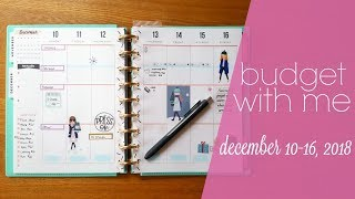 December 2018 Budget With Me | Weekly Budget | Paycheck to Paycheck Budget