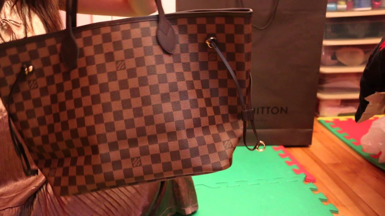 db5f388c77ef UNBOXING LOUIS VITTON NEVERFULL MM - Damier Ebene- MADE IN FRANCE ...