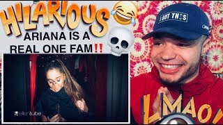 "ARIANA GRANDE ""Haunted House Adventure"" On The Ellen Show REACTION"