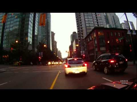 Driving in Downtown Vancouver 1