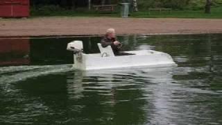 Styrofoam boat - airboat, full scale R/C! 2